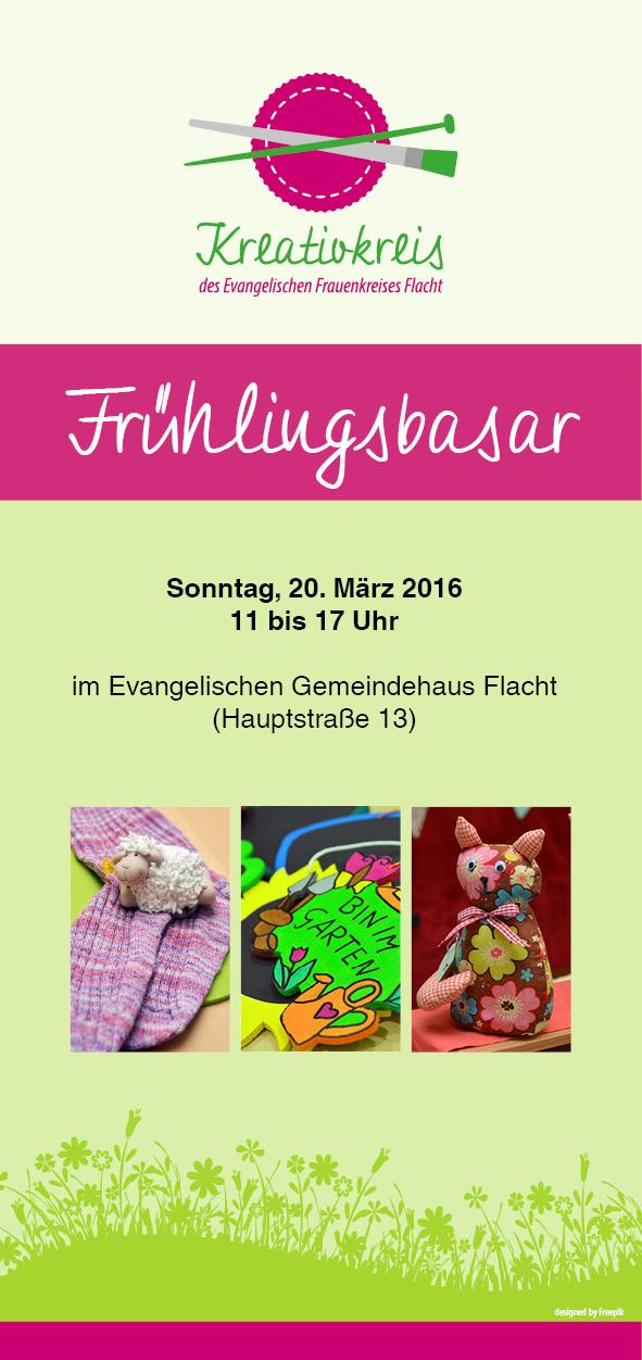 Flyer Frühlingsbasar Kreativkreis Flacht