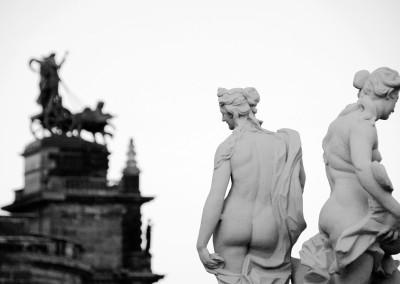 Blick aus dem Dresdner Zwinger