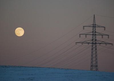 Mond und Strom