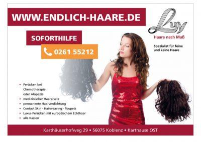 Plakat für Friseur Luy