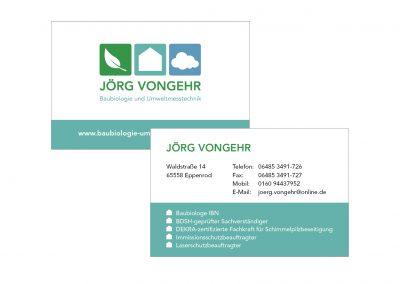 Visitenkarten Jörg Vongehr