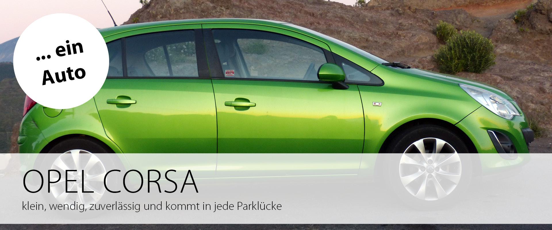 Ein Auto: Opel Corsa