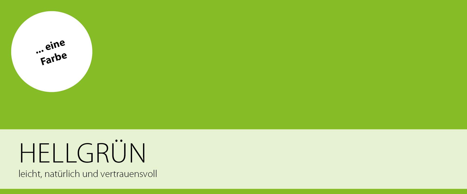 Eine Farbe: Grün