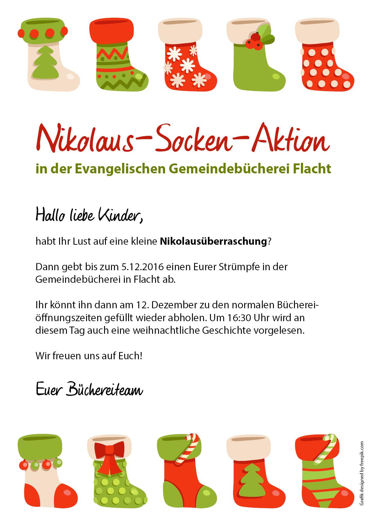 Nikolaus-Aktion Bücherei Flacht