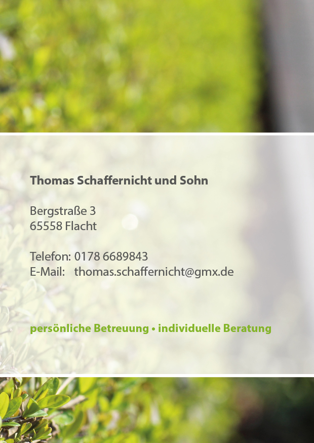 Flyer Thomas Schaffernicht aus Flacht von Grafikdesign Limburg