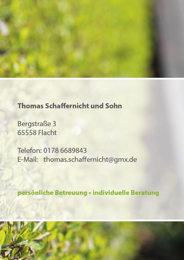 Flyer Thomas Schaffernicht aus Flacht von Grafikdesign Limburg