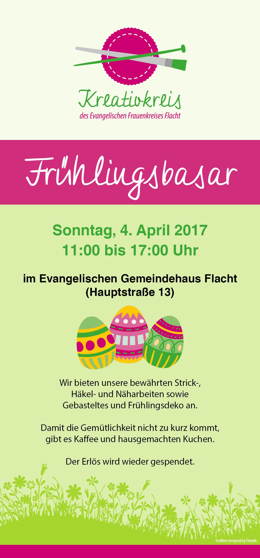 Flyer Kreativkreis Flacht Basar Frühling 2017