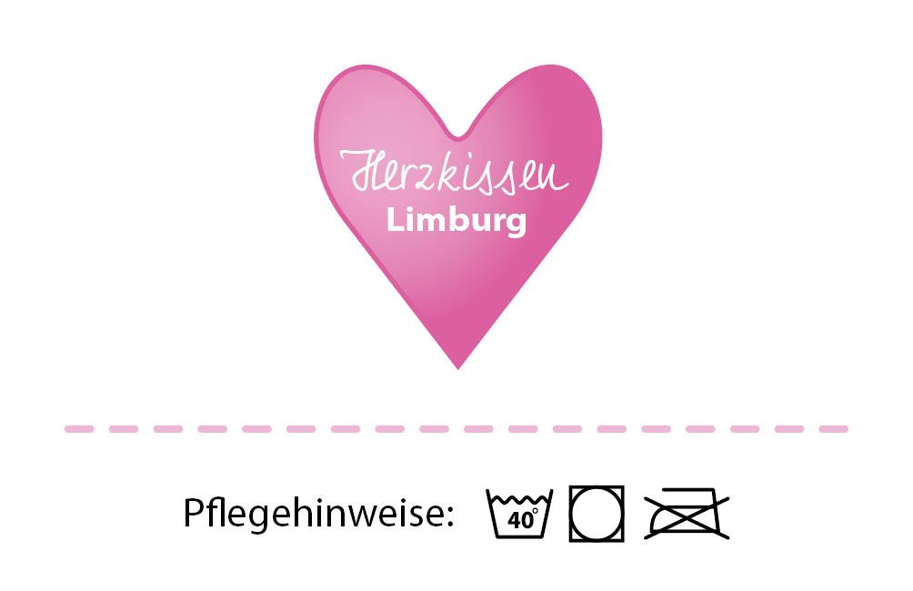 Visitenkarte Herzkissen Limburg - Vorderseite