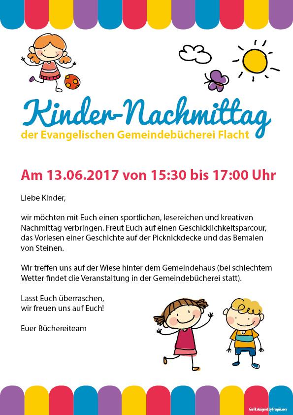 Kindernachmittag Bücherei Flacht