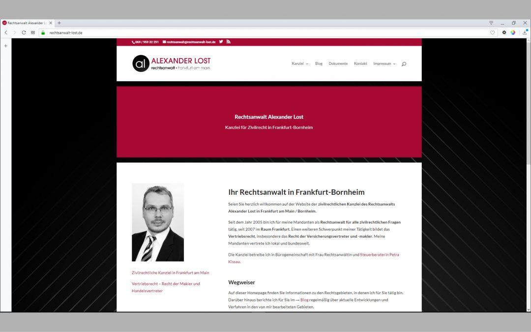 Website rechtsanwalt-lost.de