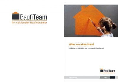Logo und Broschüre BaufiTeam