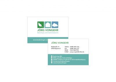 Logo und Visitenkarten Jörg Vongehr