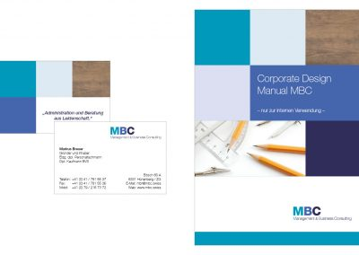 Visitenkarten und Corporate Design Manual MBC
