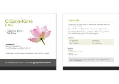 Flyer Qi-Gong-Kurse