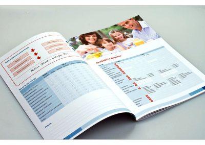 Broschüre mit Formularen