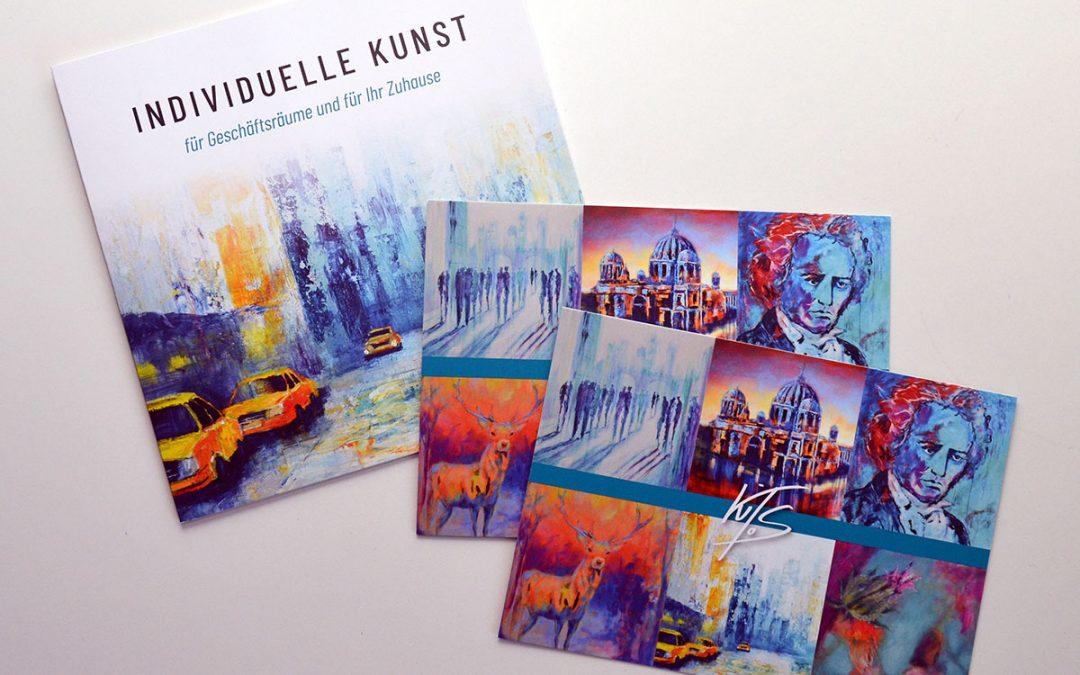 Flyer und Postkarte Atelier Kitos